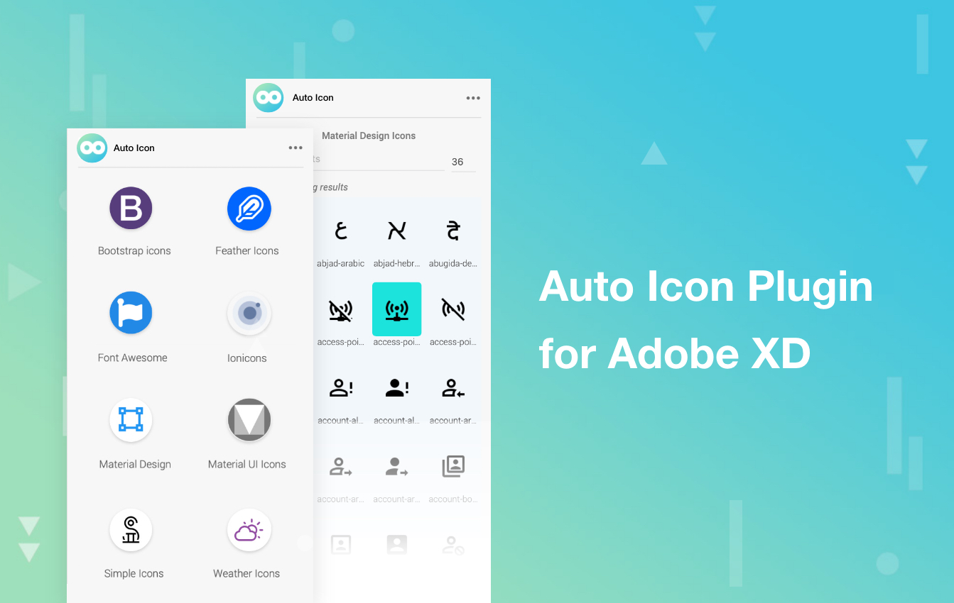 Auto icon Plugin for Adobe xd
