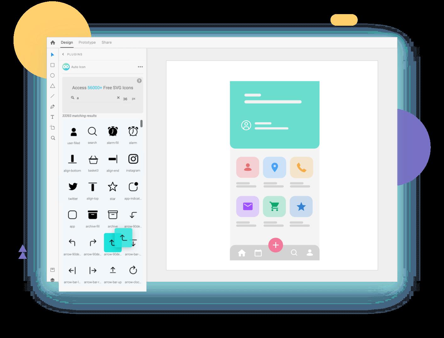 Auto icon UI