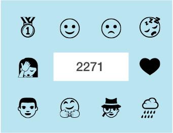 Emoji One (monotone)